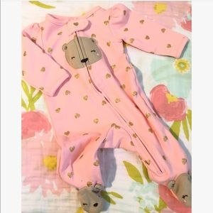 Carter's Teddy Bear Newborn Footies